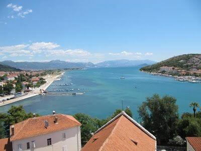 vistas bahía de Trogir