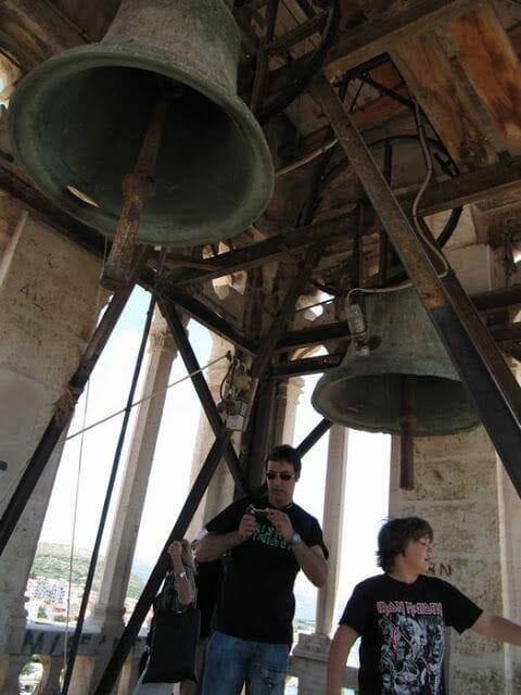 campanas campanario de la catedral de Trogir