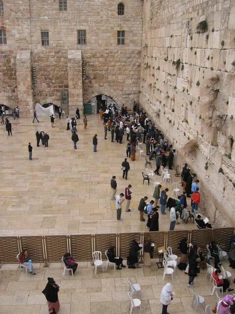 muro de Lamentaciones jerusalen desde la pasarela