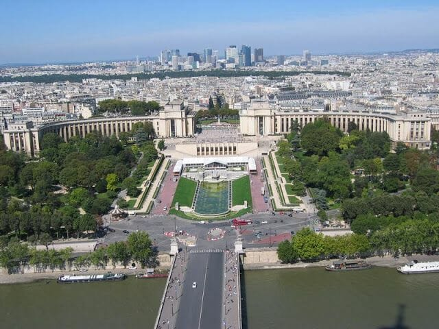 Sena, trocadero, vistas de paris