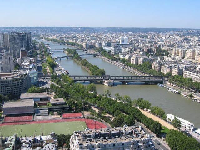 vistas desde el último piso de la Torre Eiffel
