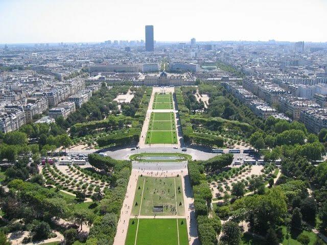 mars champs, campos de marte en Paris