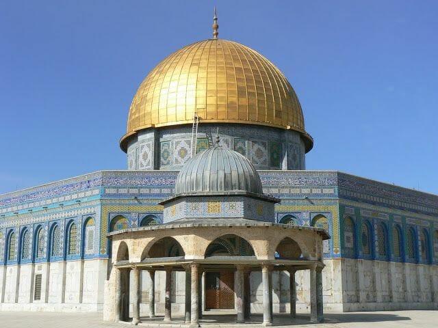 cúpula dorada de la Roca en Jerusalén