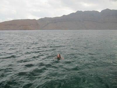 bañarse en el estrecho de Ormuz