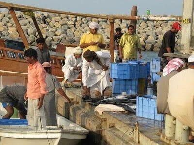 pescadores de la Península de Musandam