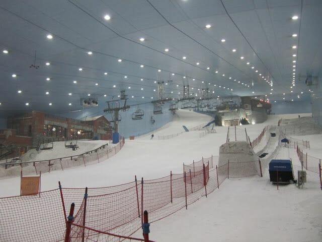 pistas indoor, dubai ski, esquiar en dubai