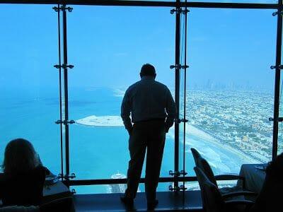 vistas desde el restaurante del Burj al Ara