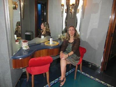 Marta en el restaurante del Burj al Arab