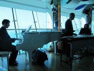 músicos del restaurante del Burj al Arab