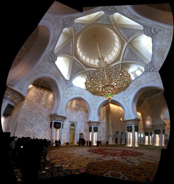 Mezquita Sheikh Zayed Abu Dhabi lámpara
