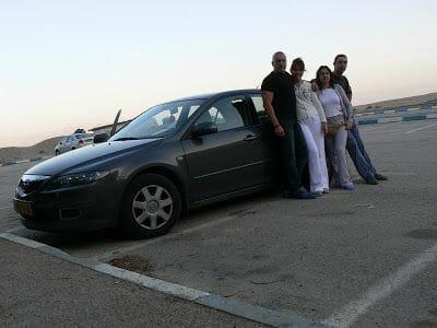 coche de alquiler en Israel