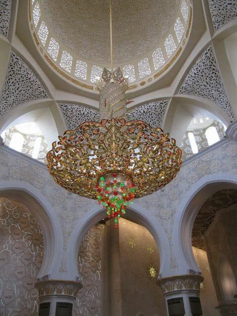 lámpara Mezquita Sheikh Zayed Abu Dhabi