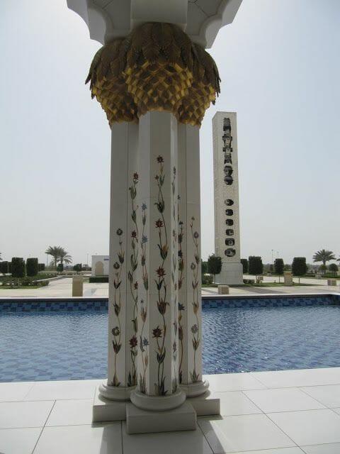 Mezquita Sheikh Zayed Abu Dhabi columna
