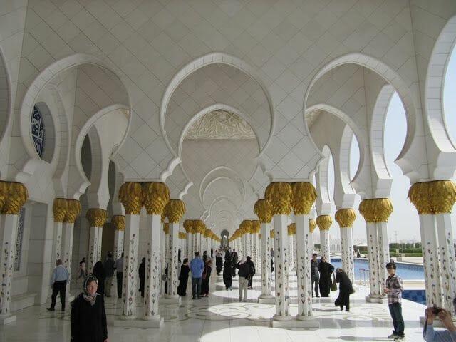 arcos Mezquita Sheikh Zayed Abu Dhabi