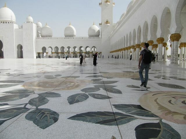 Mezquita Sheikh Zayed Abu Dhabi patio