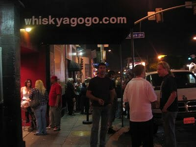 entrada del whisky a gogo en Los Angeles