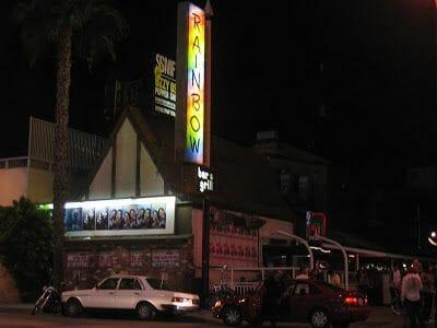 fachada del Rainbow bar sunset boulevard