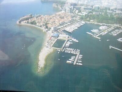 Budva desde el aire, budva, Montenegro