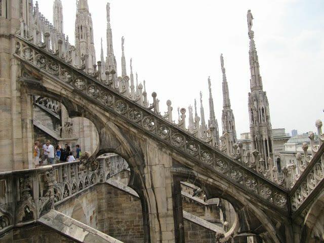 tejado de la catedral de Milán