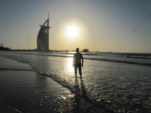jumeirah beach, playa Dubai, Burj al arab