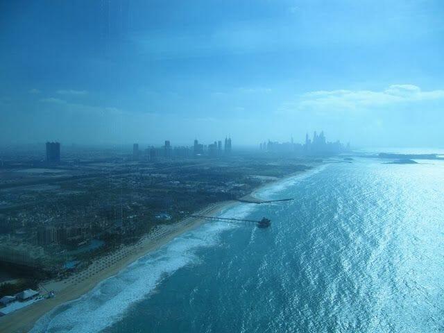 vistas desde el Burj al arab, restaurante Al Muntaha