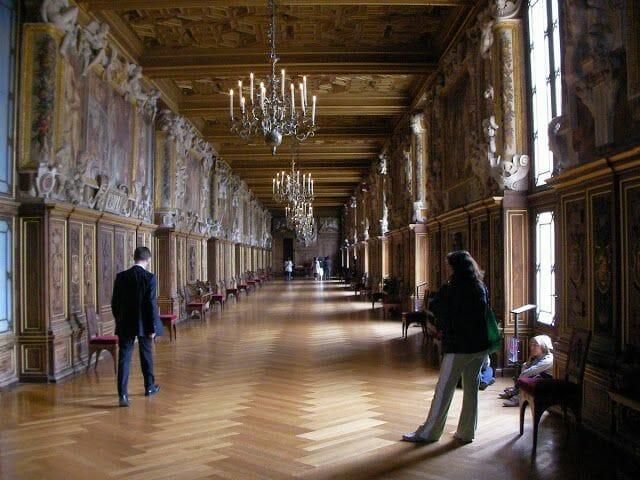 galería de Francisco I en Fontainebleau, galeria del renacimiento, arte renacimiento en Francia