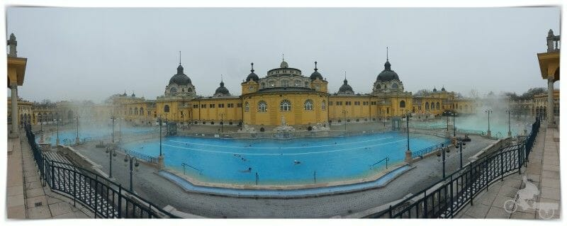 balneario szechenyi - piscinas exteriores