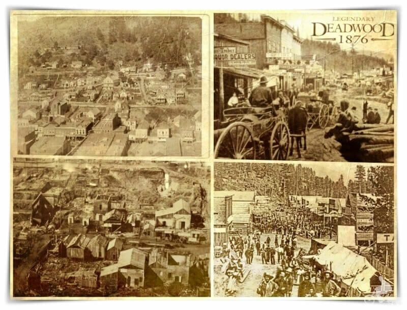 pueblo de Deadwood en epoca de la mano del muerto