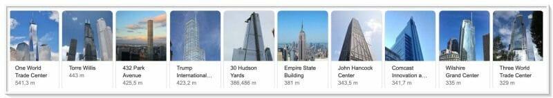 ranking edificio mas alto estados unidos rascacielos