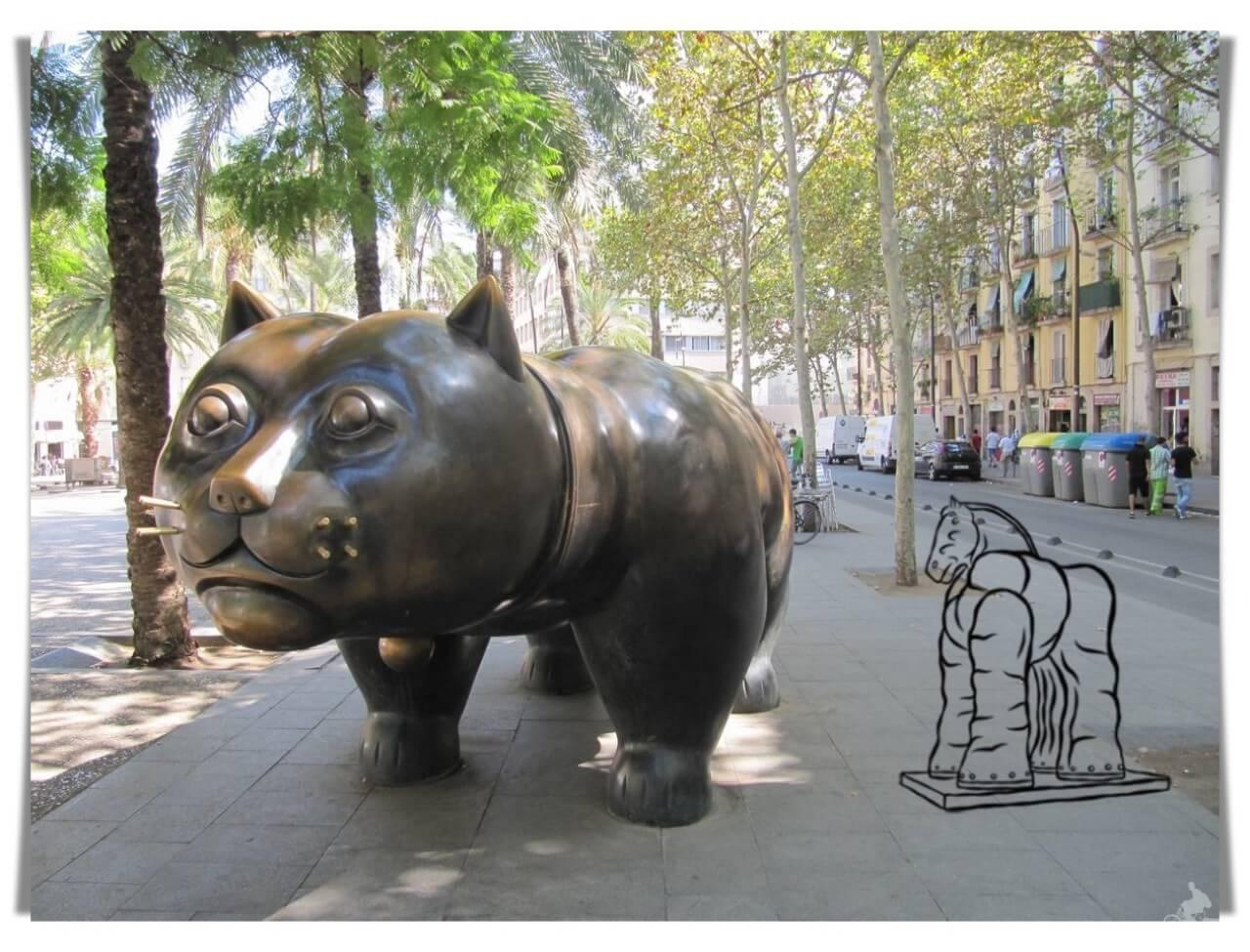 escultura botero en Barcelona