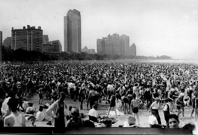 playa chicago a principios siglo XX