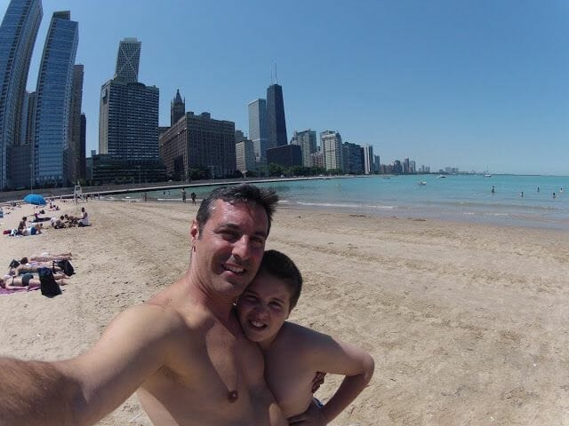 Playas de Chicago. Olive Park beach.