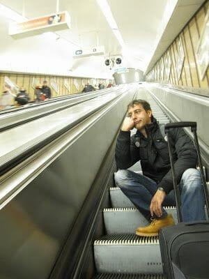 escaleras metro budapest