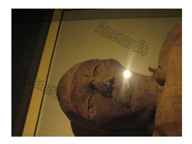 momia de Ramsés V en el museo de El Cairo