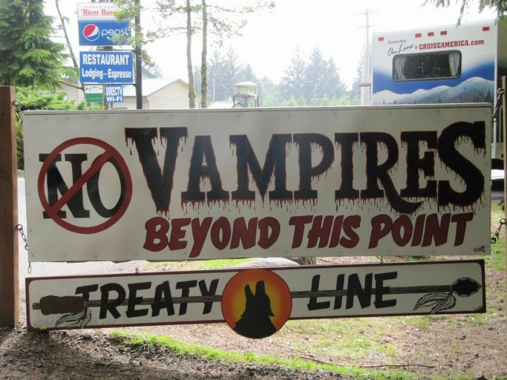 No Vampires beyond this point