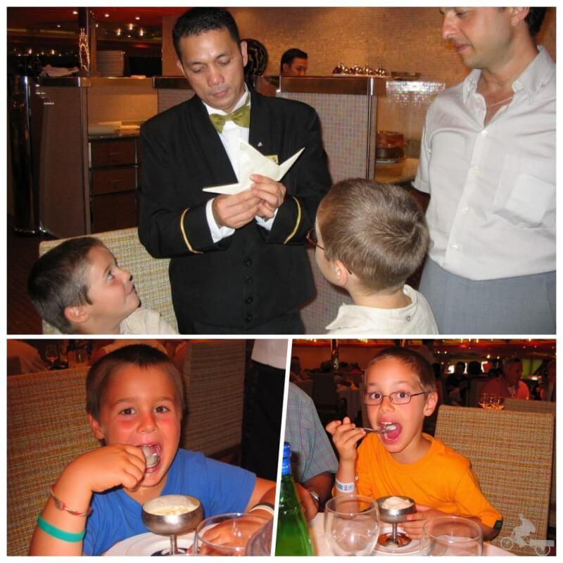 crucero con niños restaurante