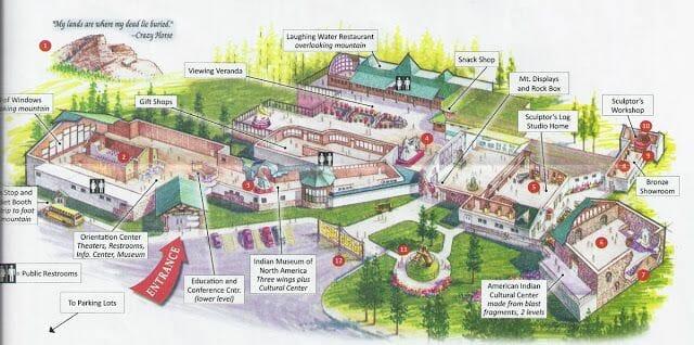 plano complejo monumento a caballo Loco