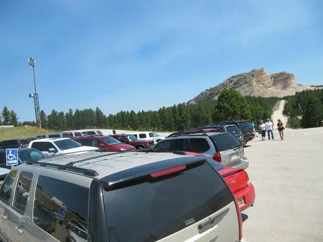 aparcamiento del Crazy horse memorial