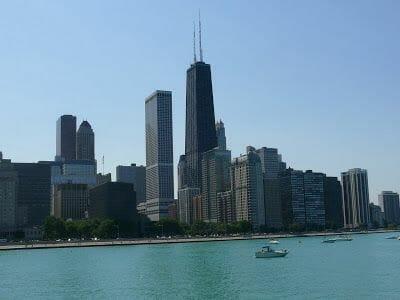 Subir al mirador de la torre John Hancock en Chicago