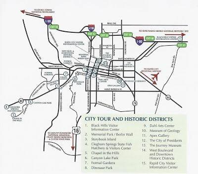 principales puntos que ver en Rapid City