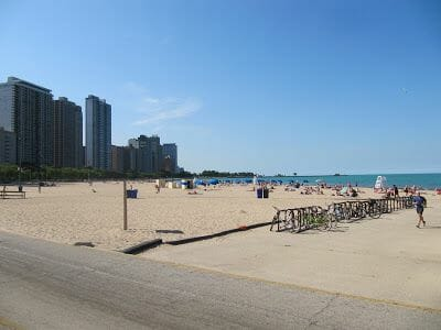 Oak beach, playas de Chicago, lago Michigan