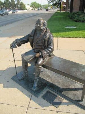 Martin Van Buren statue, estatua de Martin Van Buren