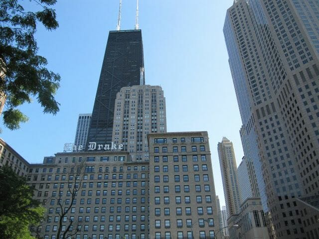 the Drake, Hancock tower