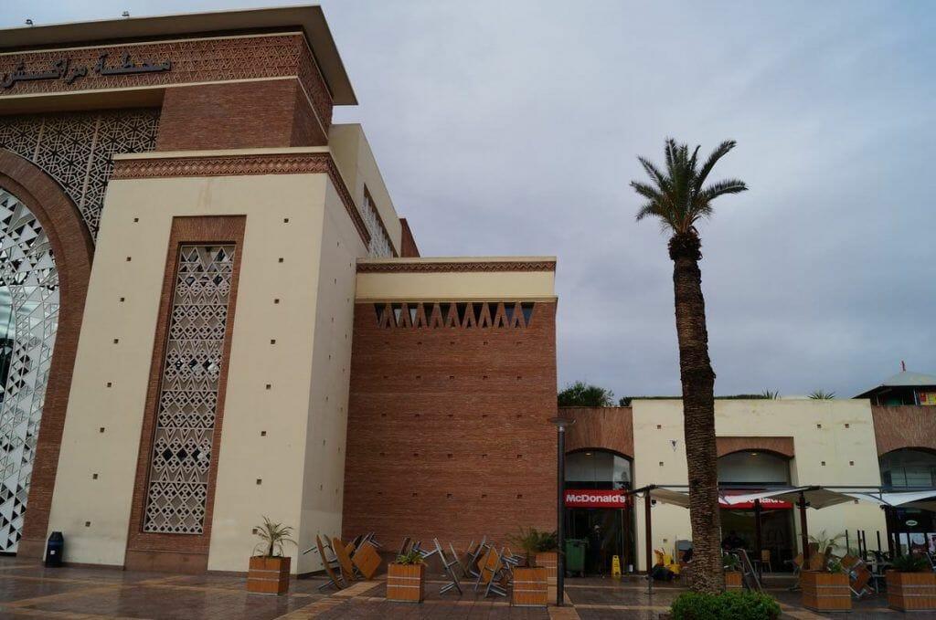 Mc Donalds de la estación de tren de Marrakech