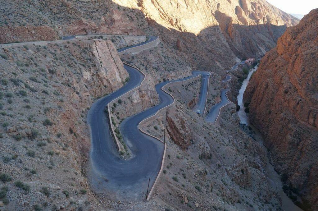 carretera gargantas del río Dadès