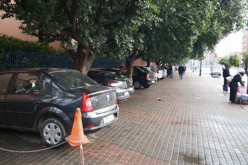 parking - opiniones del hotel Ibis de Marrakech
