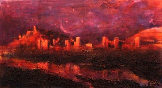 el Ksar de Ait Ben Haddou pintura