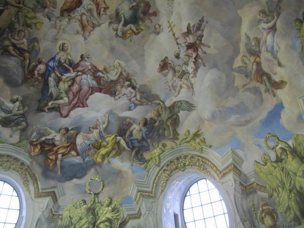 frescos cúpula San carlos borromeo viena