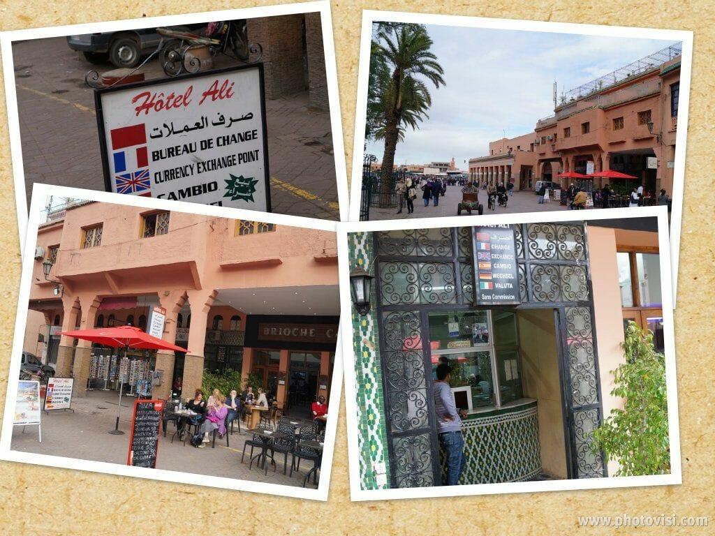 casa cambio para el viaje a Marrakech