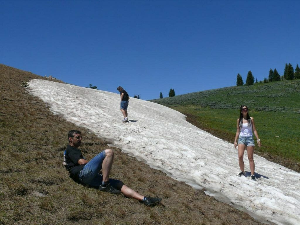camino a Yellowstone